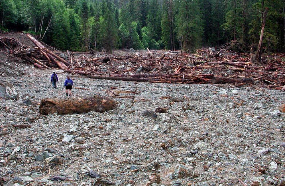 landslide debris
