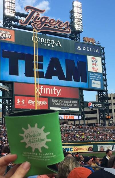 PFS Koozie at the Tigers game