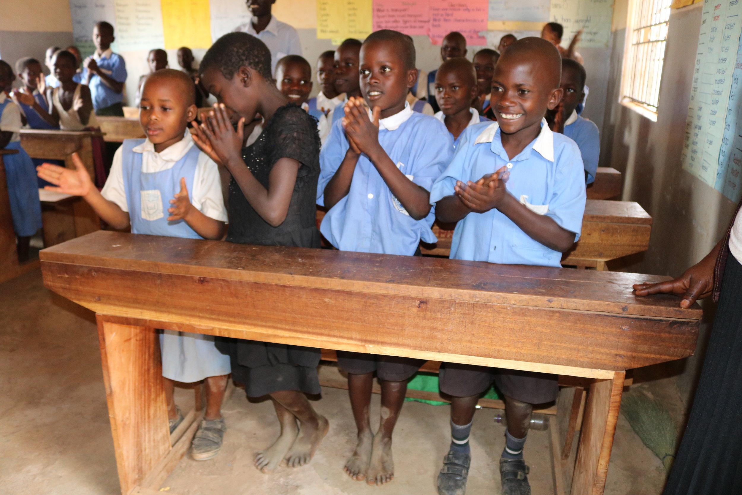 Students at St. Tereza Kajaguzo Primary School