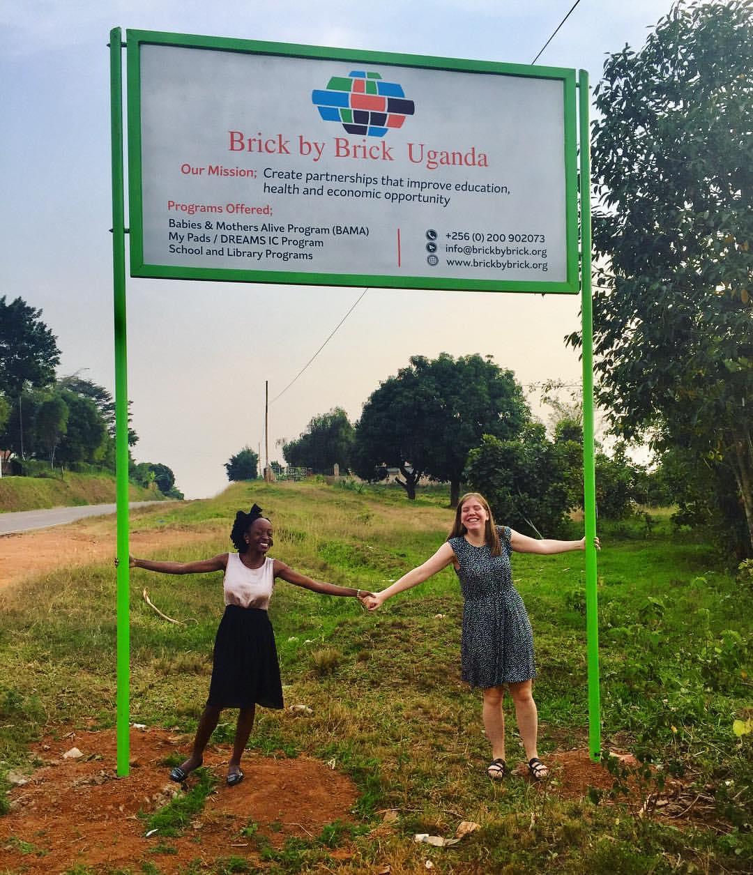 Brick by Brick Global Health Corps Fellows: Geraldine Kauma and Liza Magill