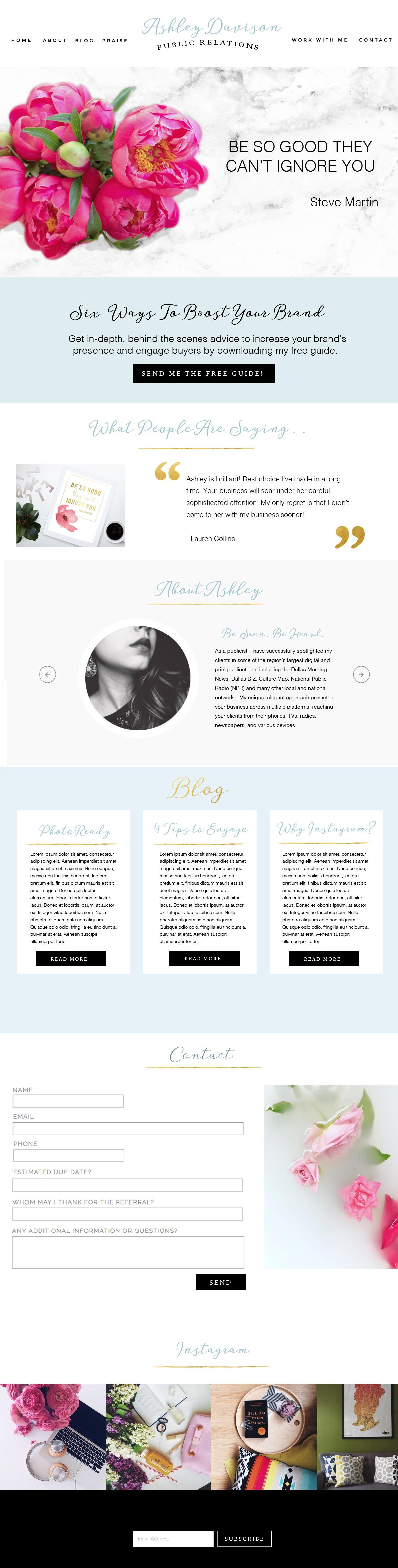 Ashley Davison - Beautiful Web Design