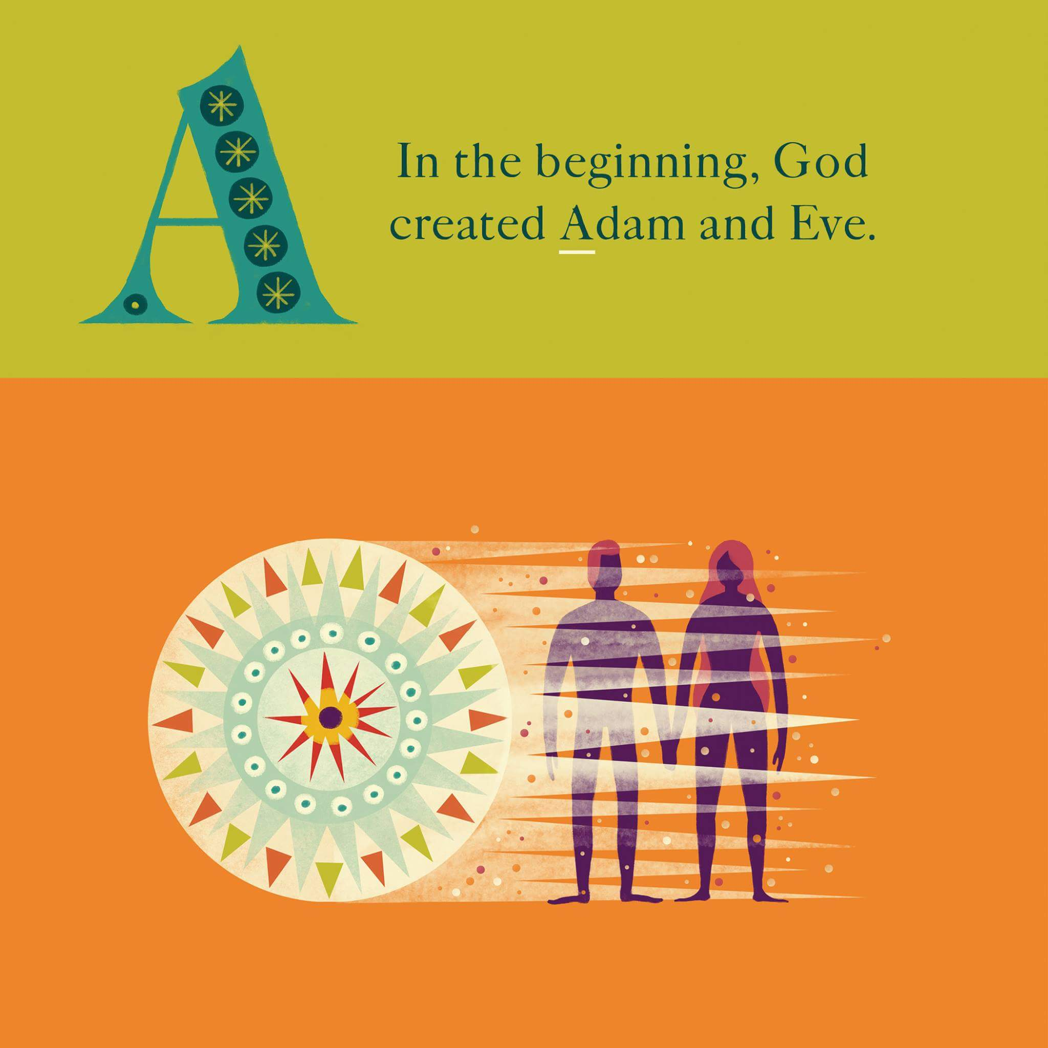 In the beginning, God created Adam and Eve.