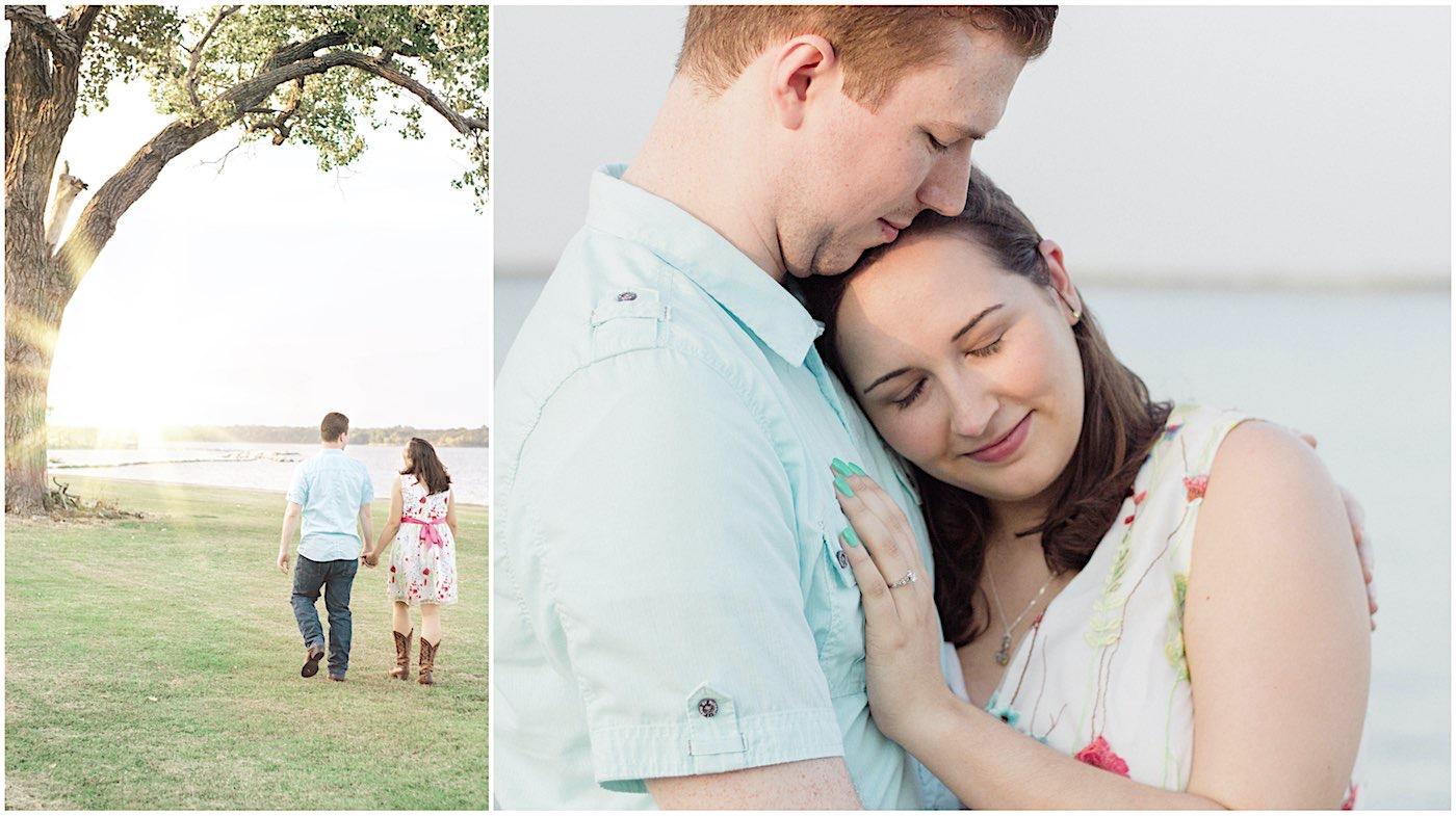 Jonathan and Marissa's Fall Engagement Session - Denton, TX Photography