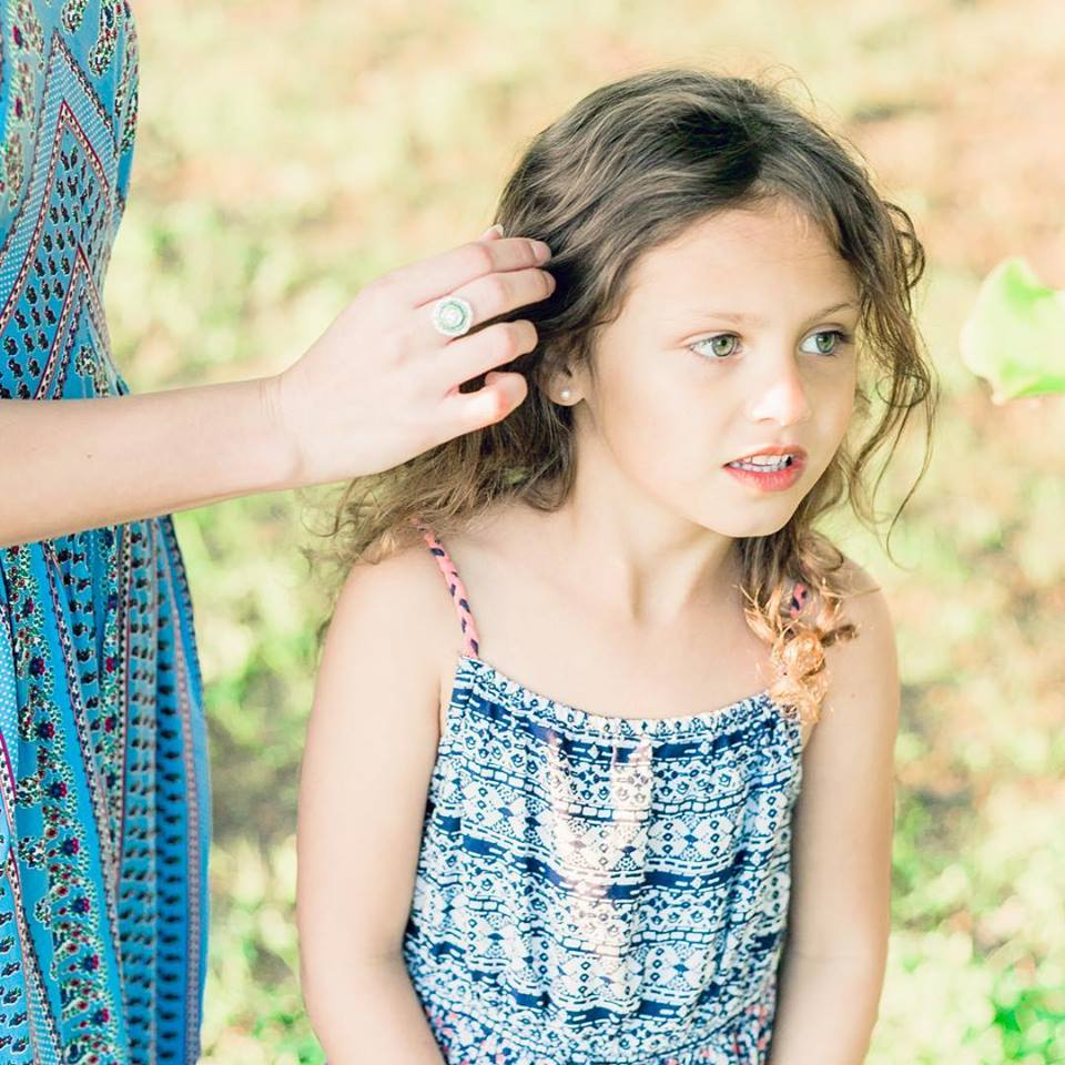 Shiloh in a wildflower field - Denton Wedding and Family Photography