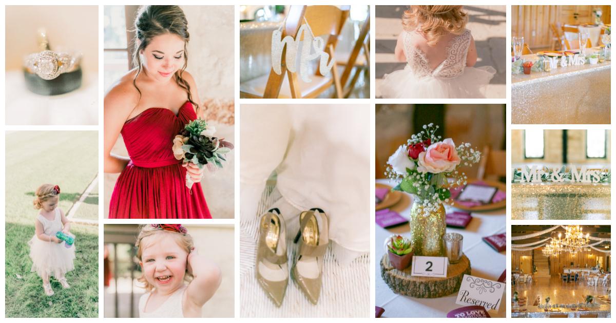 Beautiful Rustic Glam Wedding in Lovely Anna, TX - Denton Wedding Photographer