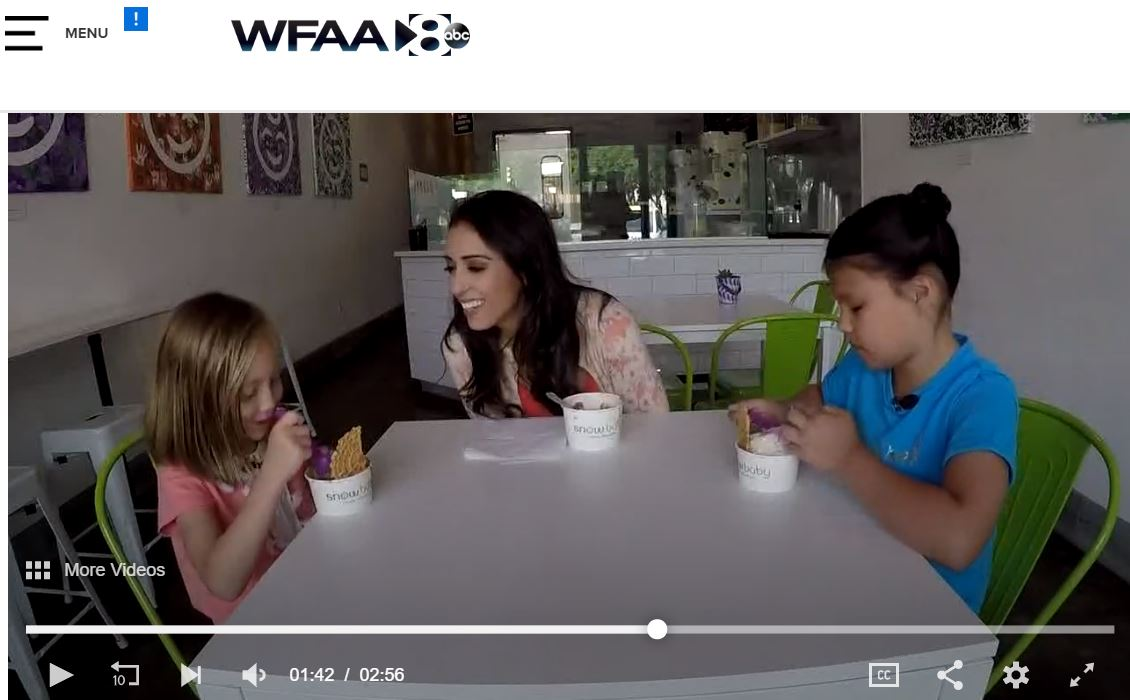 wfaa - Snowbaby: A healthier dessert for this hot weather