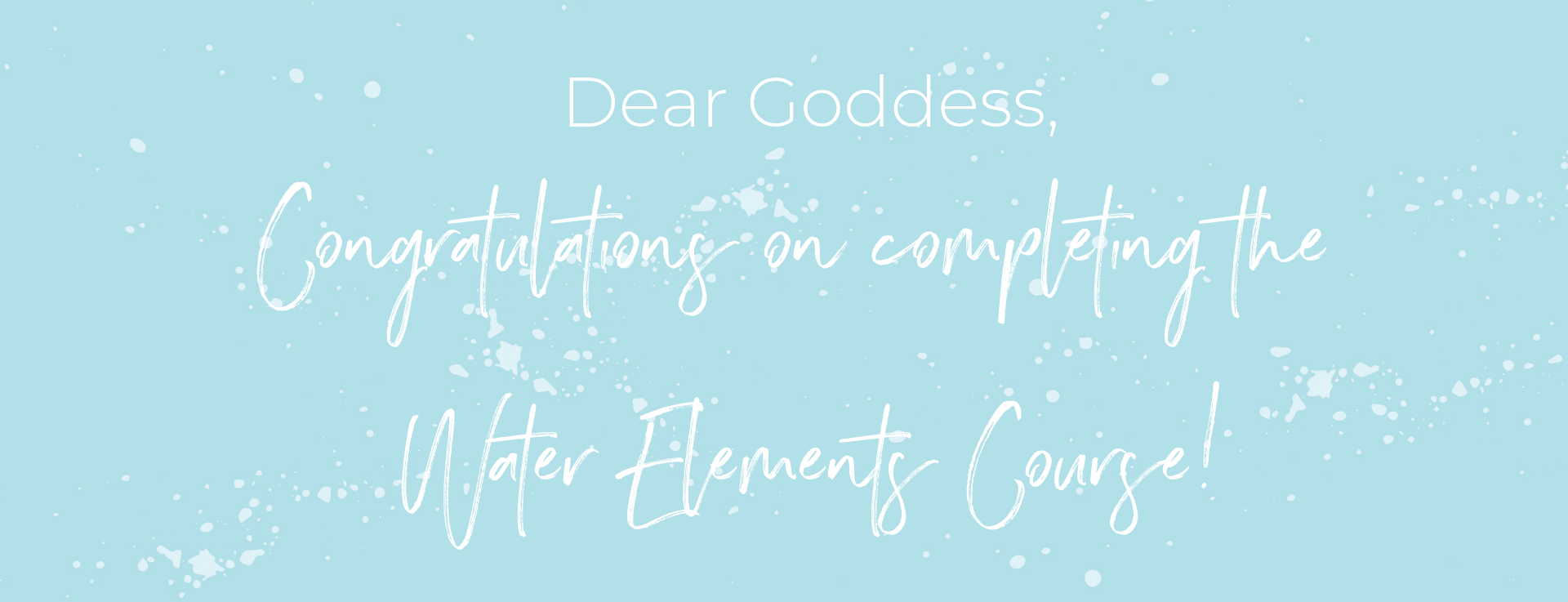 Congrats_Water elements course.png