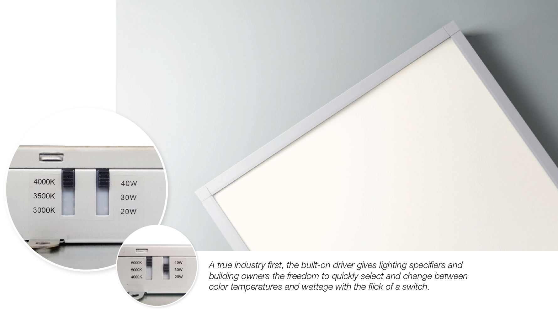 FORUM - A foundation for architectural spaces. Commercial LED Panel - Customizable on-site.