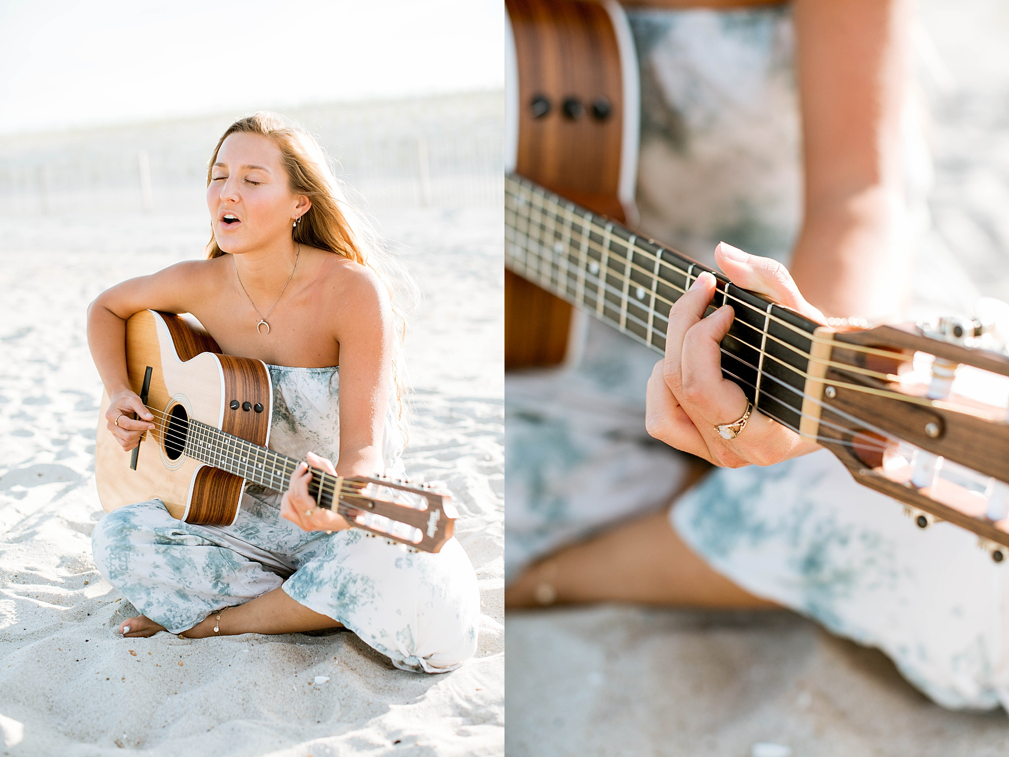 Natural and Bright Seaside Park New Jersey Boho Lifestlyle Beach Portrait Photography by Kelee Bovelle_0002.jpg