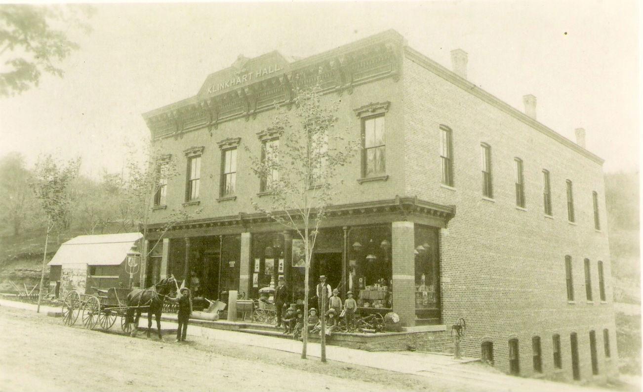 Klinkhart Hall circa 1885, courtesy of Sharon Historical Society.  Click image to enlarge.