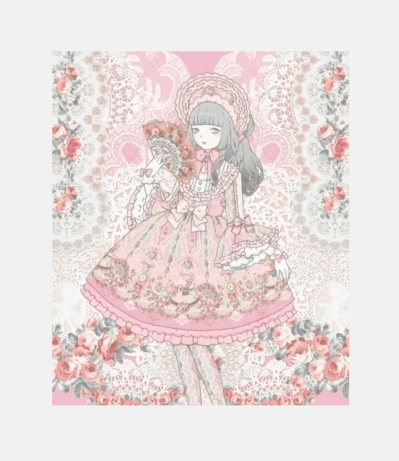 Promotional art by     Imai Kira   for a Lolita Fashion brand  Angelic Pretty