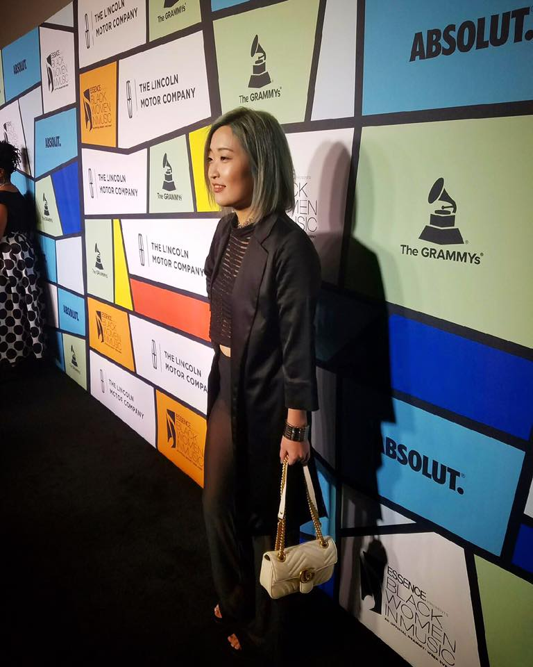 Annalé steps out in style at the 8th Annual Essence Black Women in Music Event in Los Angeles, California.