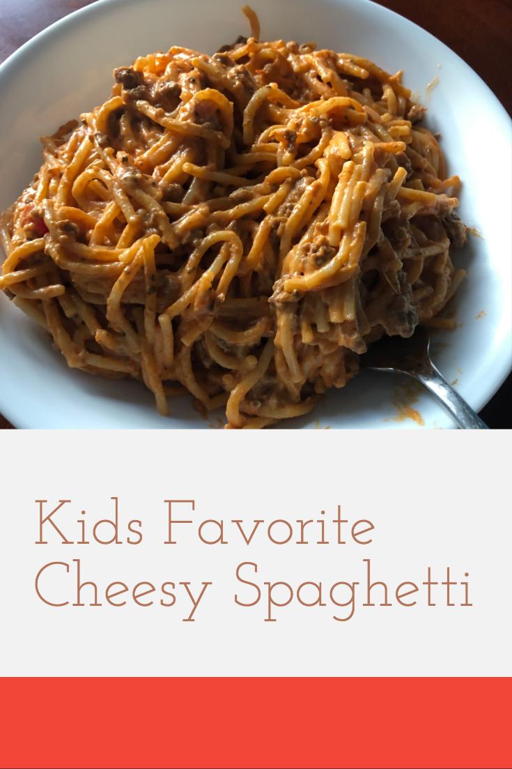Cheesy instant pot spaghetti