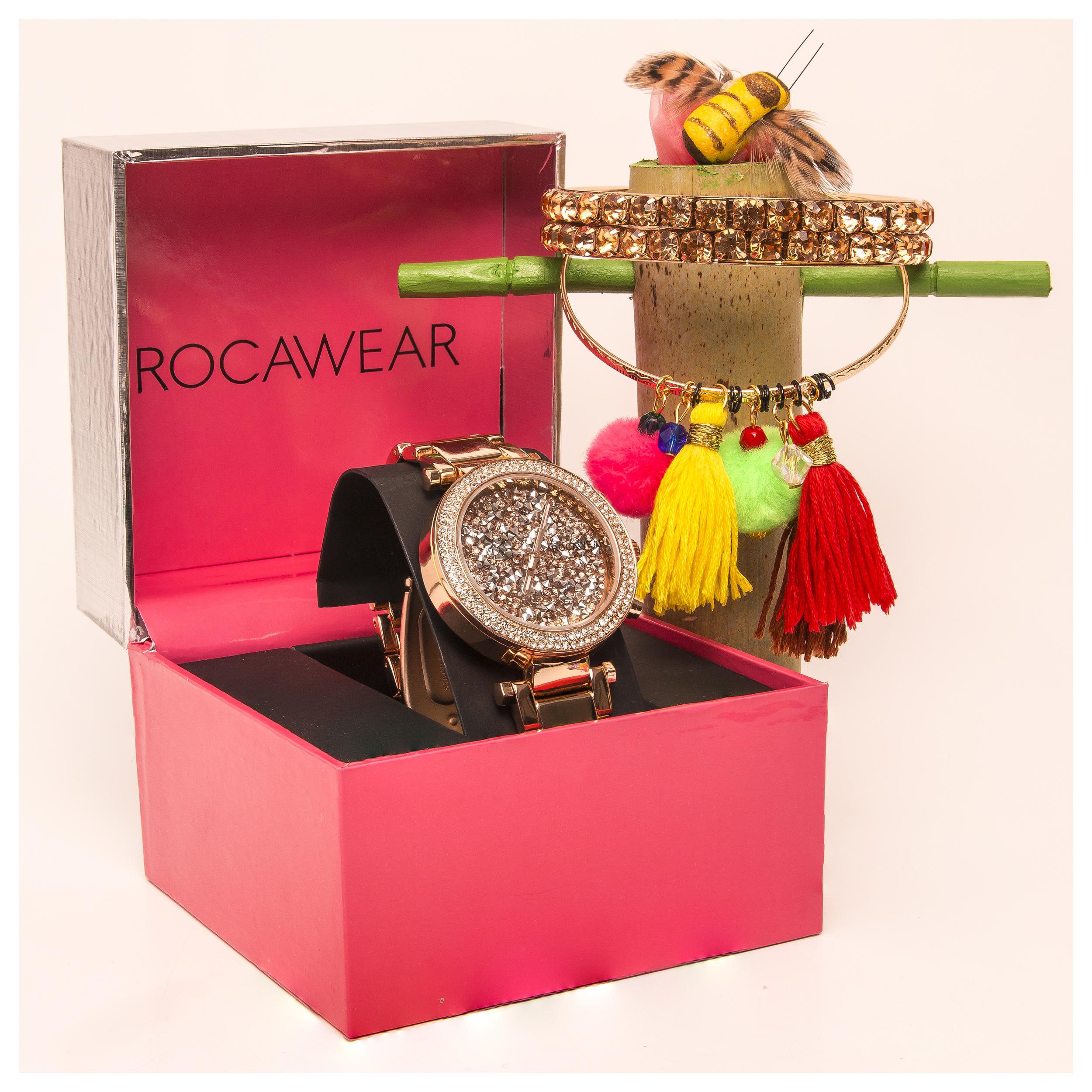 Rocawear W watch set 2 bracelets 2006.jpg