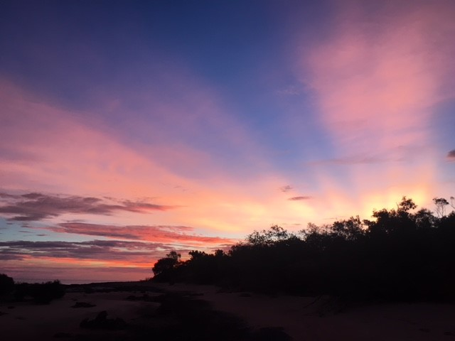 Kimberley sunset causing a distraction from migration watch