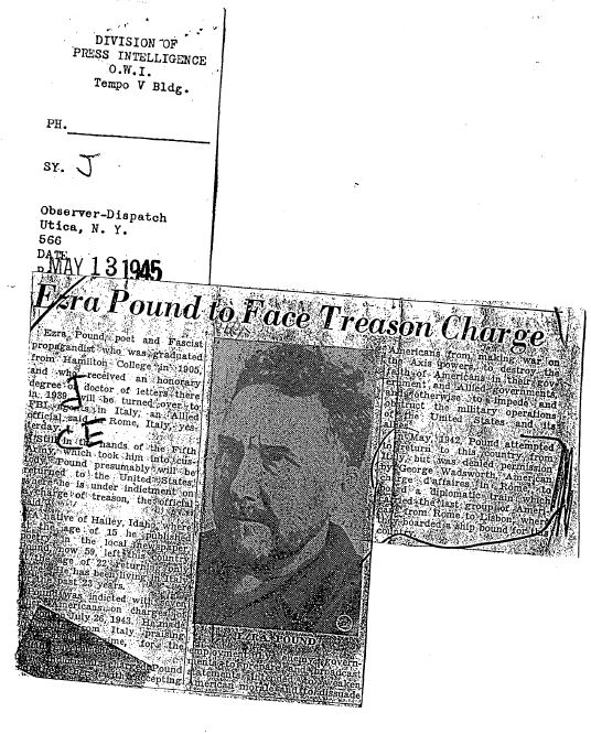 Newspaper clipping from the file