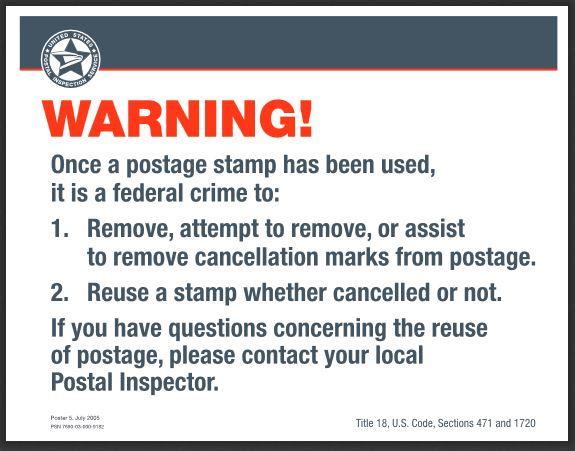 US Postal Inspection service poster [ PDF ] [ memhole2 mirror ]