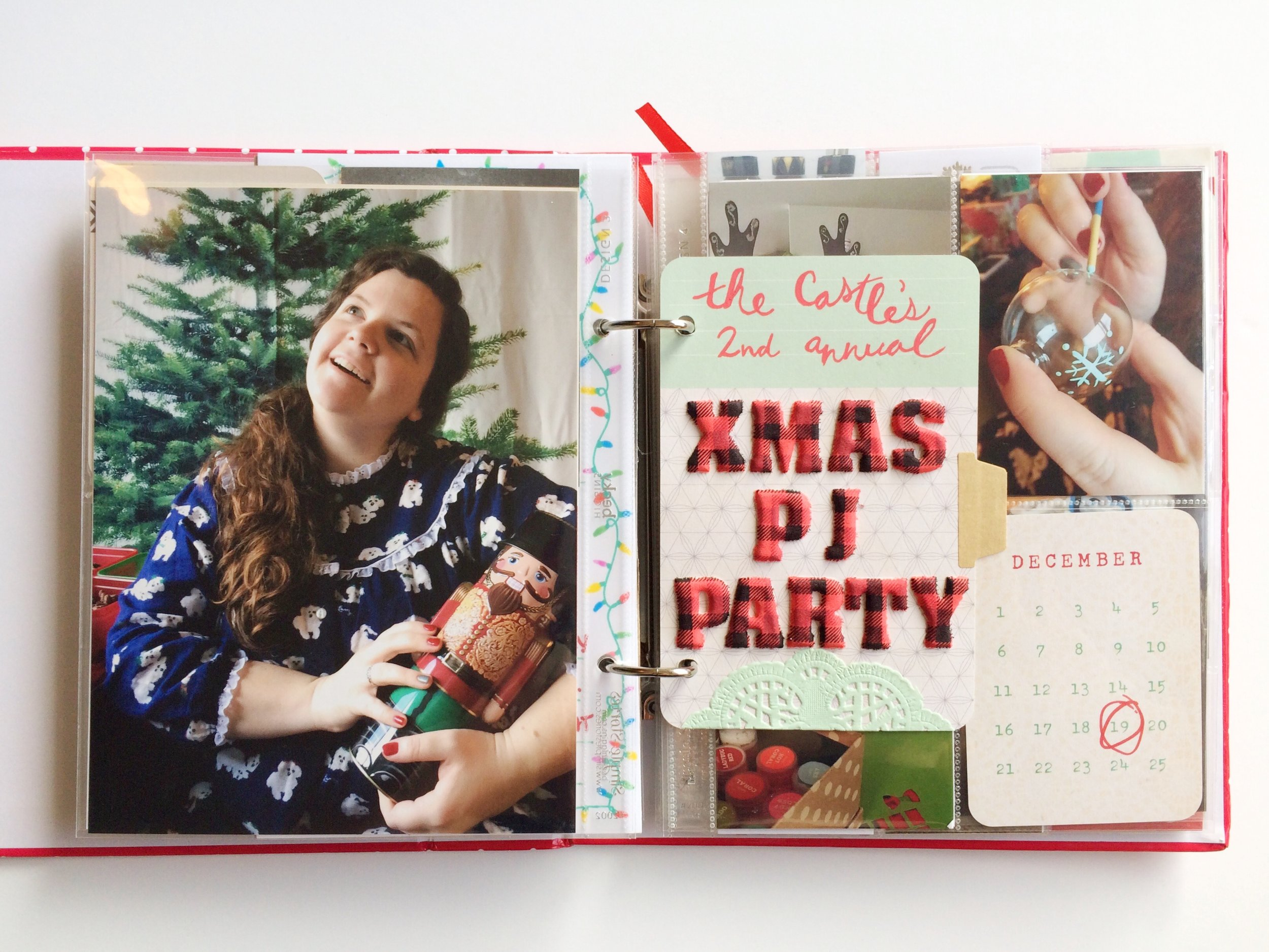 Day 19 was all about our annual Christmas party! We had a Christmas pajama party and movie marathon, complete with crafting, a cocoa bar, and a white elephant gift exchange.