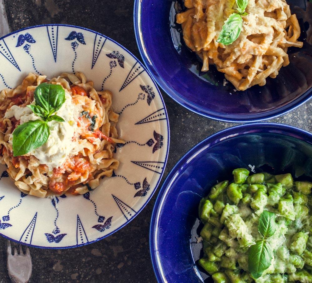 homemade, fresh pasta