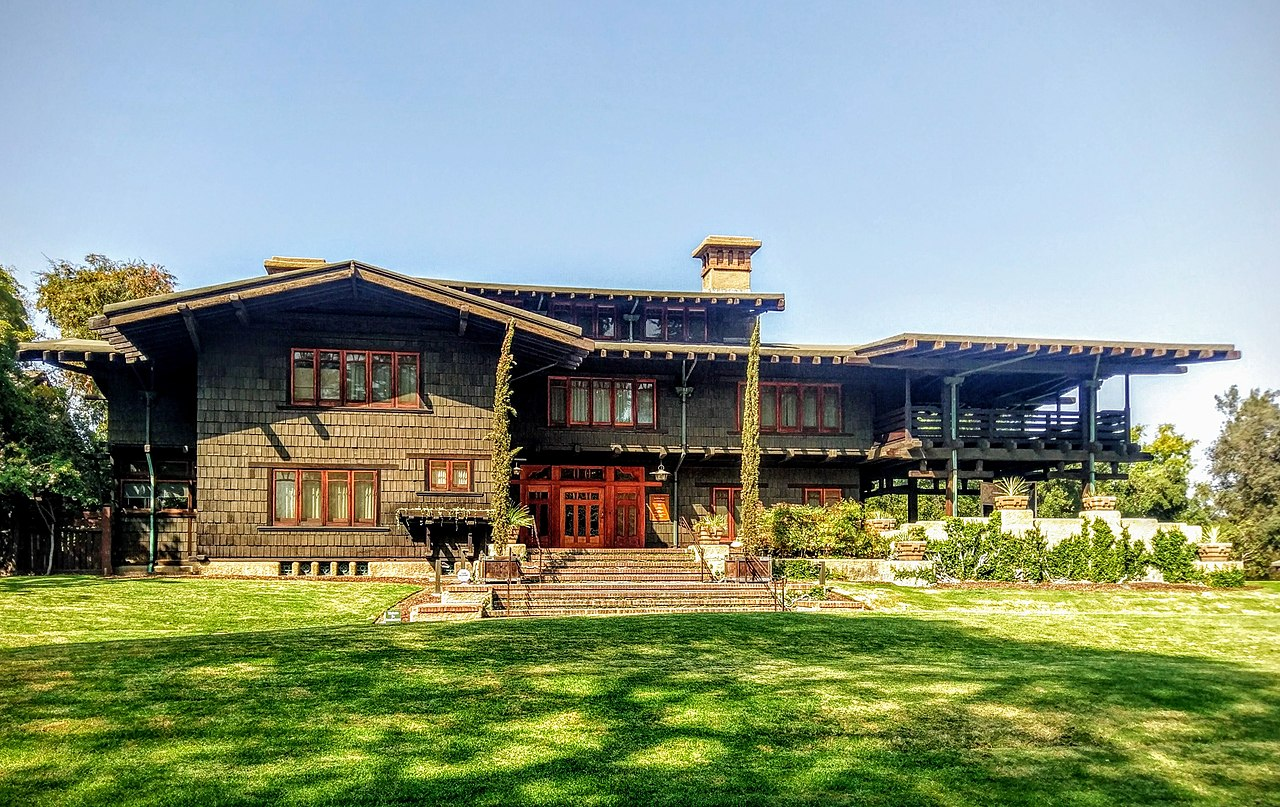 The Gamble House in Pasadena is one of the most famous examples of Craftsman architecture. Image courtesy of  Cullen328 .