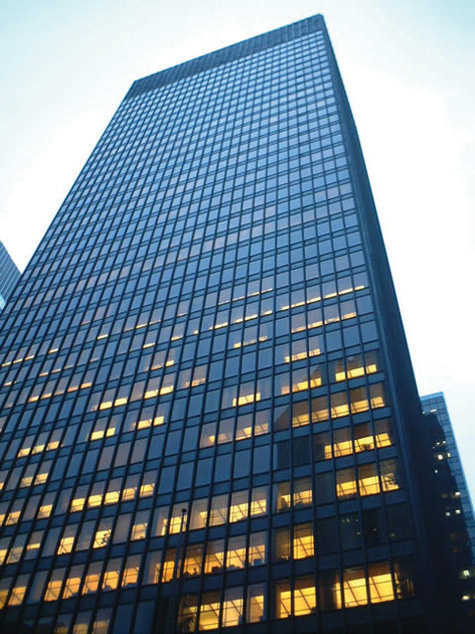 The Seagram Building in New York, one of the best known examples of the International Style.