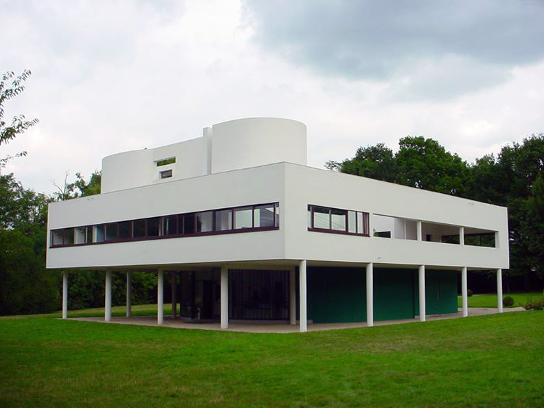 Villa Savoye in France, another famous example of this style. Image courtesy of  Valueyou .