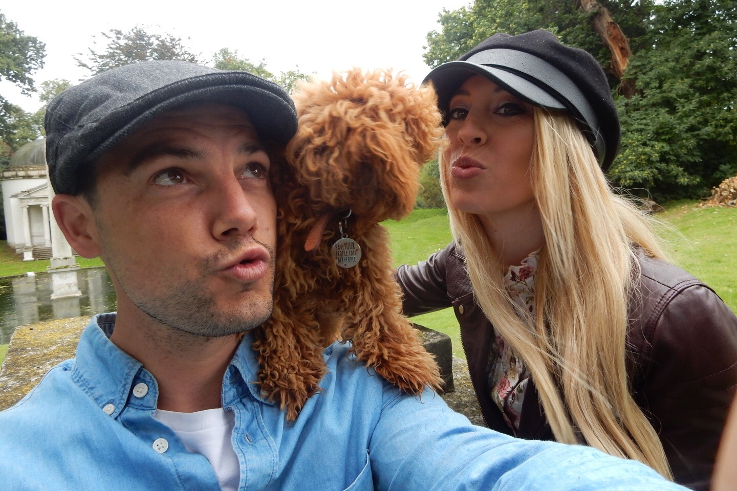 Finders of the Treasure! - Lexie, Luke and their dog Bali at the final destination of the treasure hunt in September 2017 - Lilly's Tomb at Chiswick House Gardens. They are now enjoying their tennis lessons courtesy of Will-to-Win.