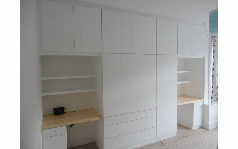 Wardrobe with Twin Desks