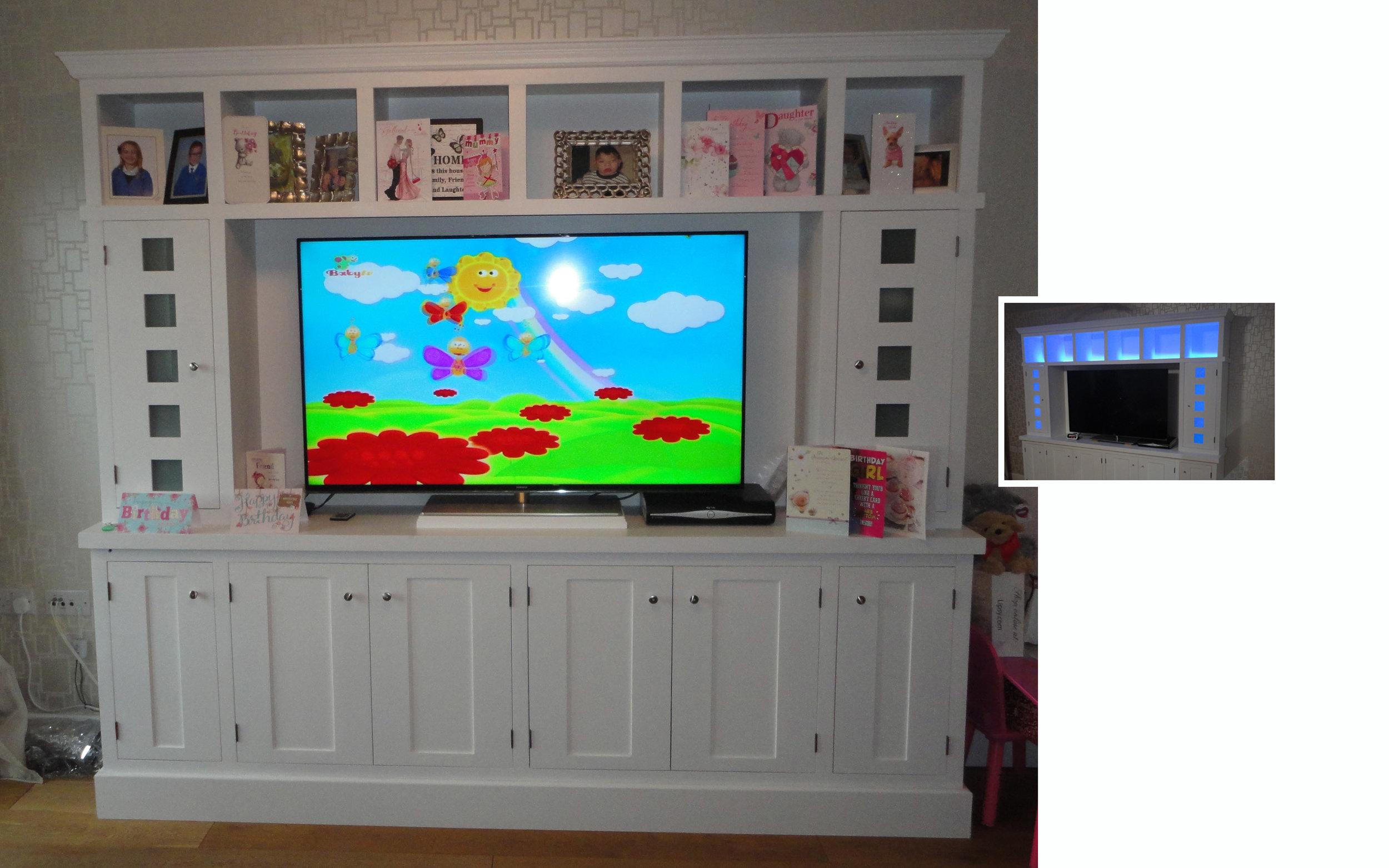 Lounge Illuminated Television Unit