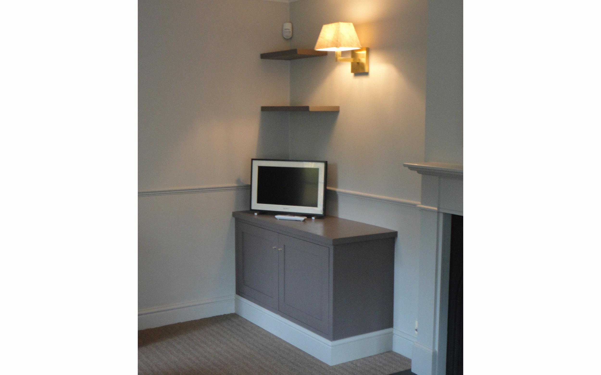 Corner TV Cabinet and Shelves
