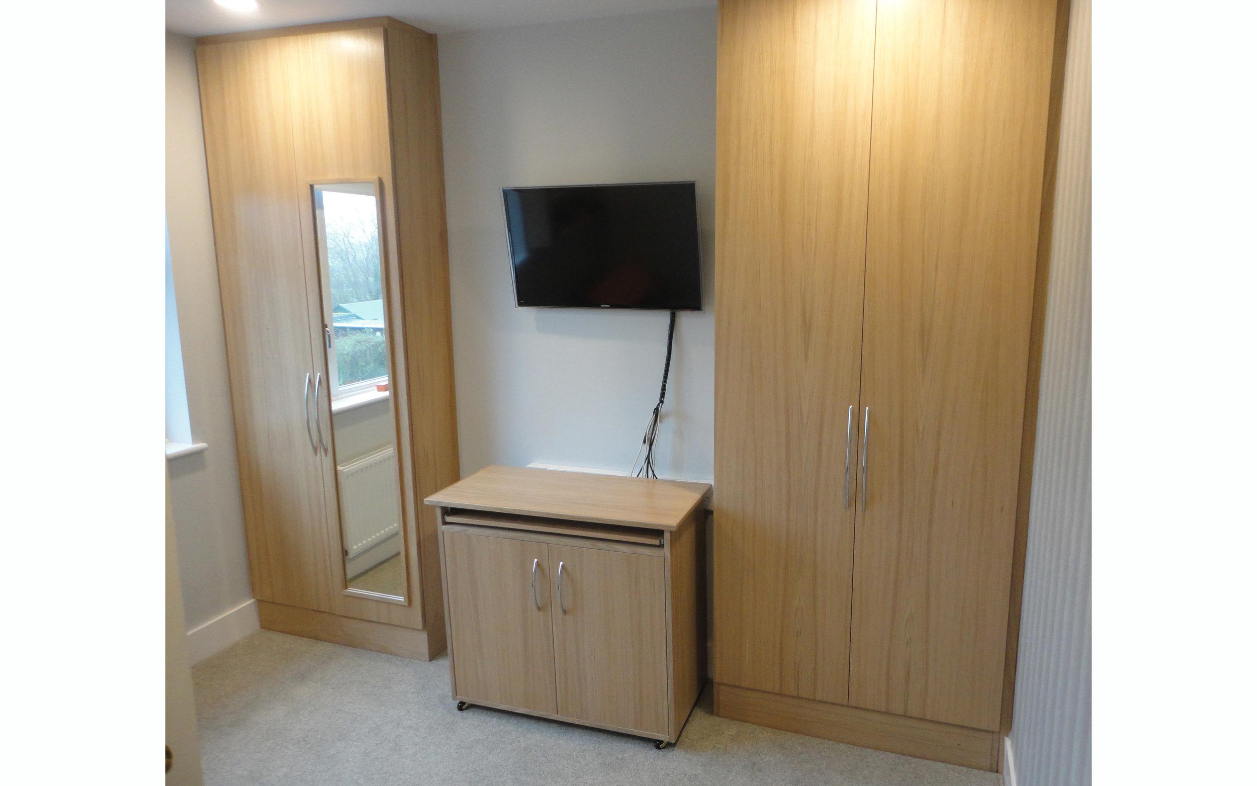 Oak Wardrobe and Computer Desk