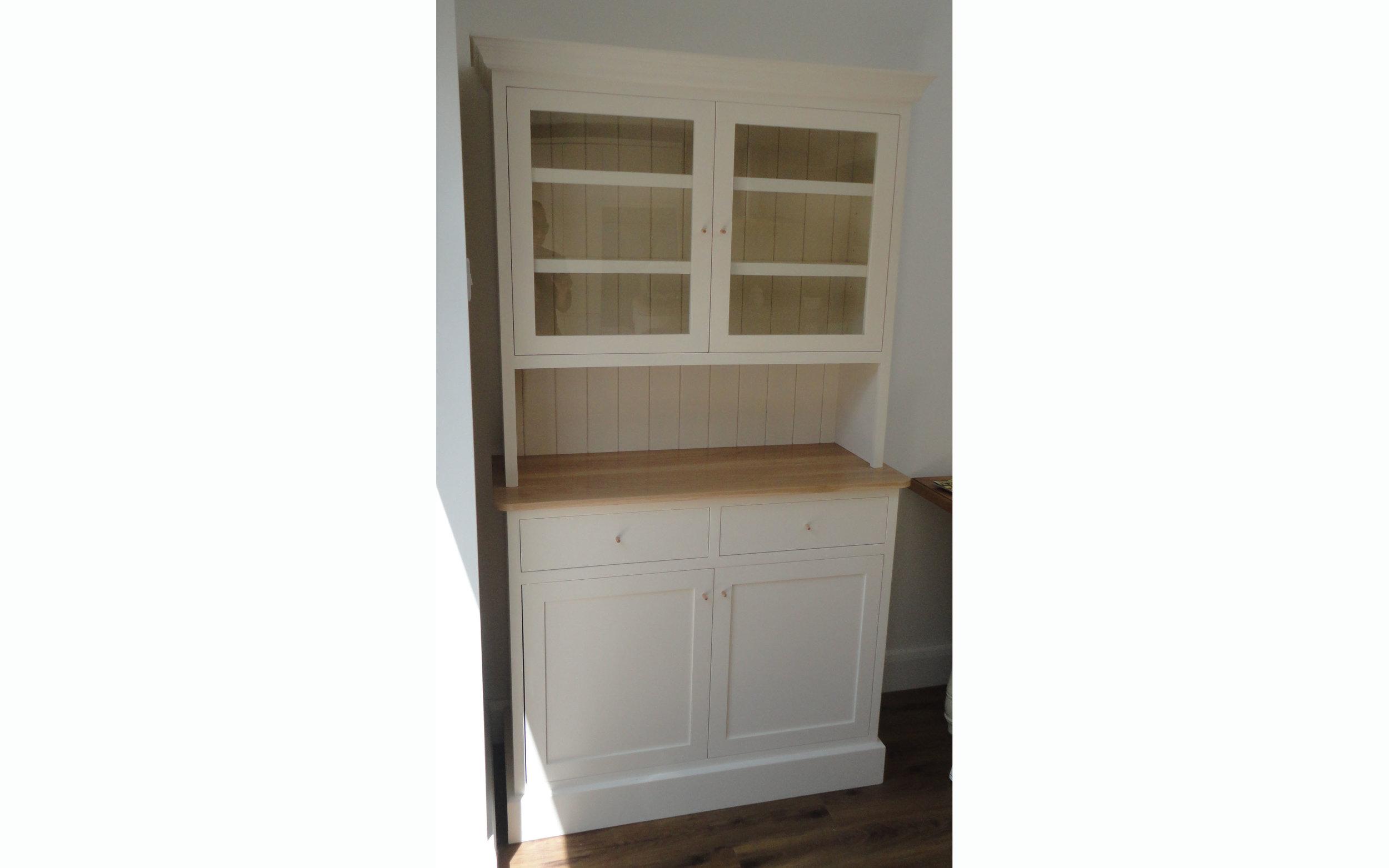 Oak-topped dresser