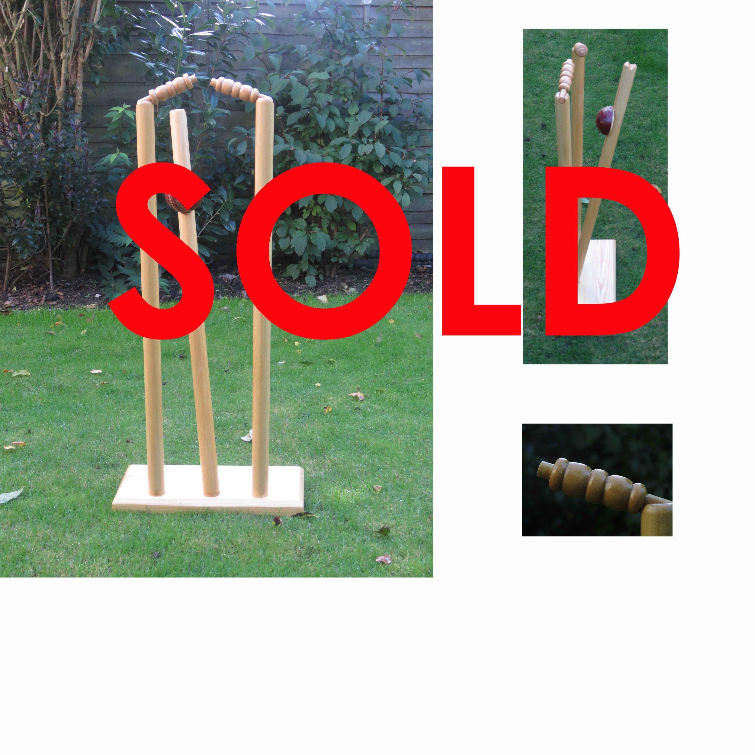 """Owzat!"" Cricket Sculpture £120"