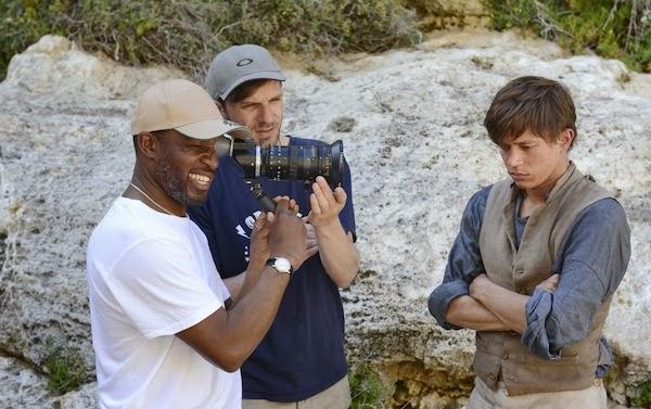 On location with Alrick Riley (left) and Sundance award winning cinematographer   David Raedeker  (centre)