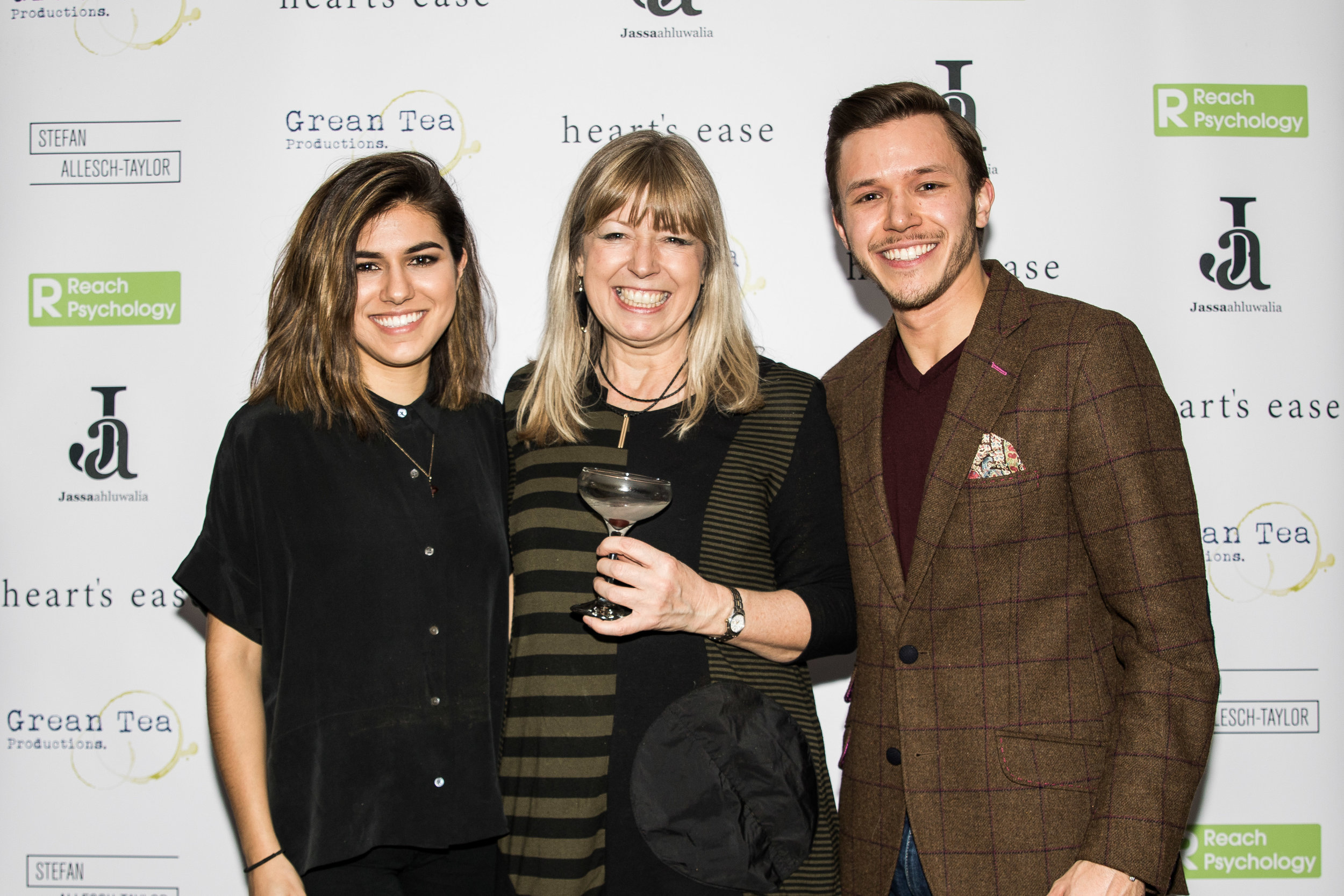 Ramanique, Sarah and Jassa Ahluwalia attend the cast and crew screening of Heart's Ease.