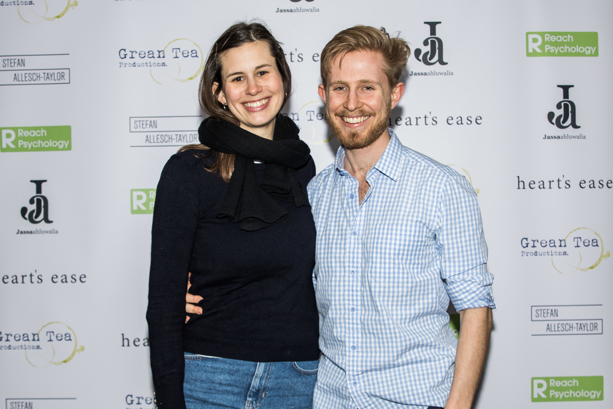 Sebastian Solberg and Natalia Fricker attend the cast and crew screening of Heart's Ease.