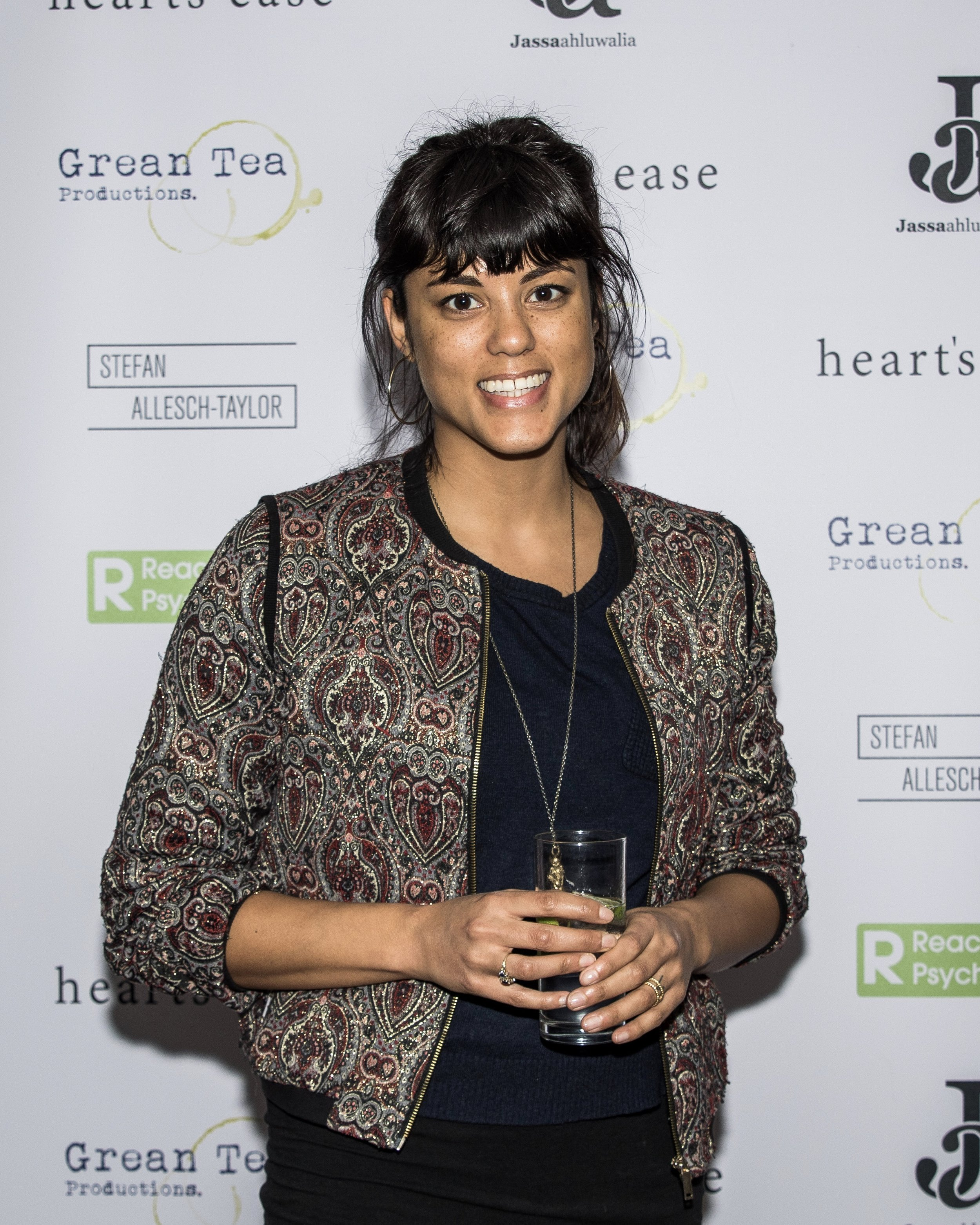 Zoë Robinson attends the cast and crew screening of Heart's Ease.