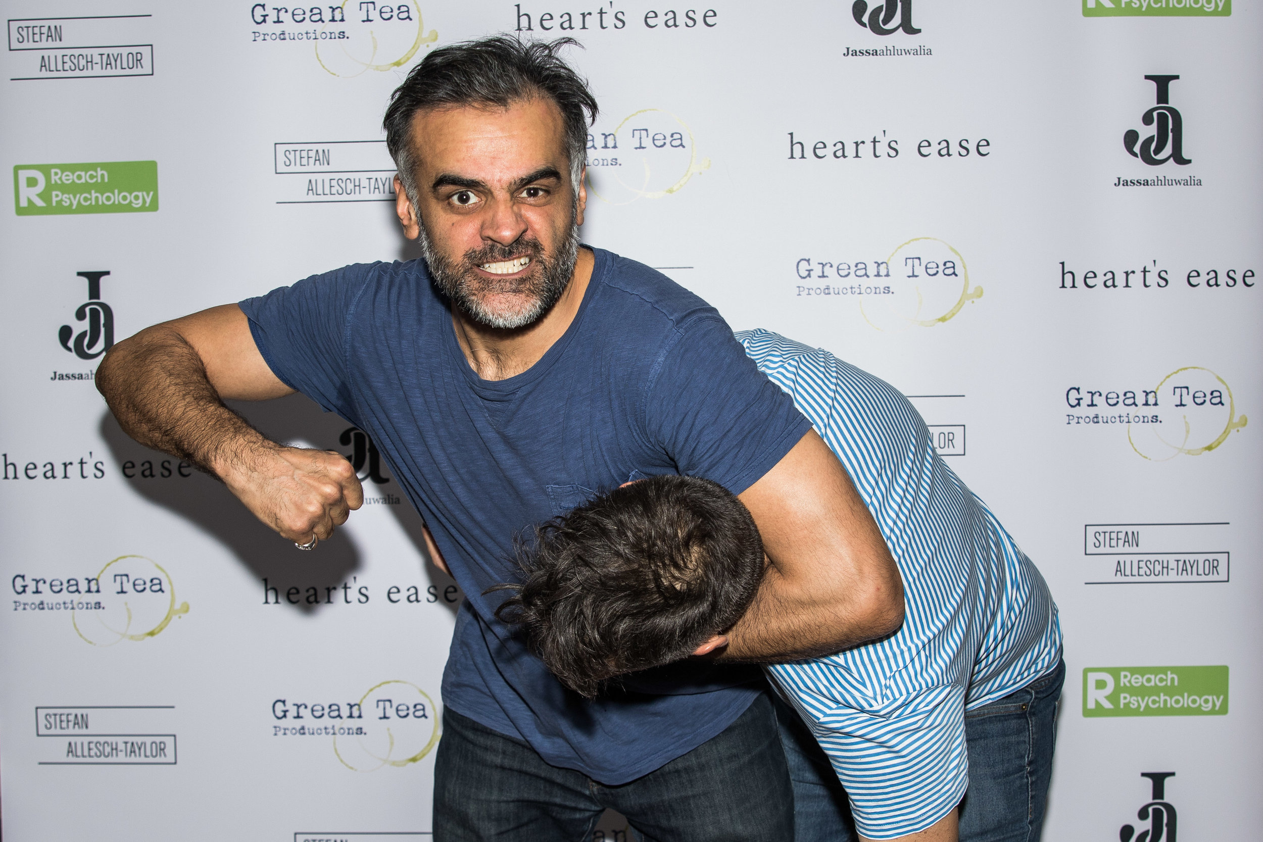 Sartaj Garewal and Matt Wigglesworth attend the cast and crew screening of Heart's Ease.