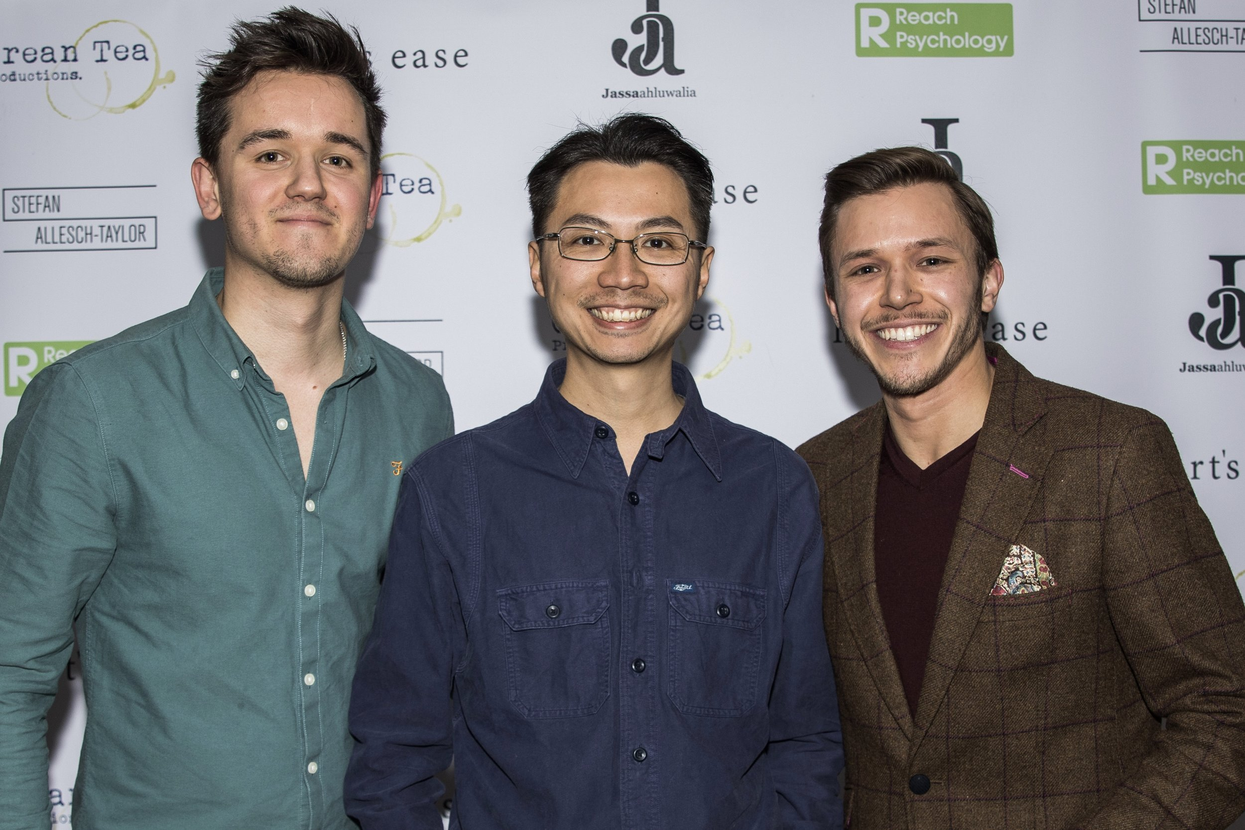 Olly Fawcett, Christopher CF Chow and Jassa Ahluwalia attend the cast and crew screening of Heart's Ease.