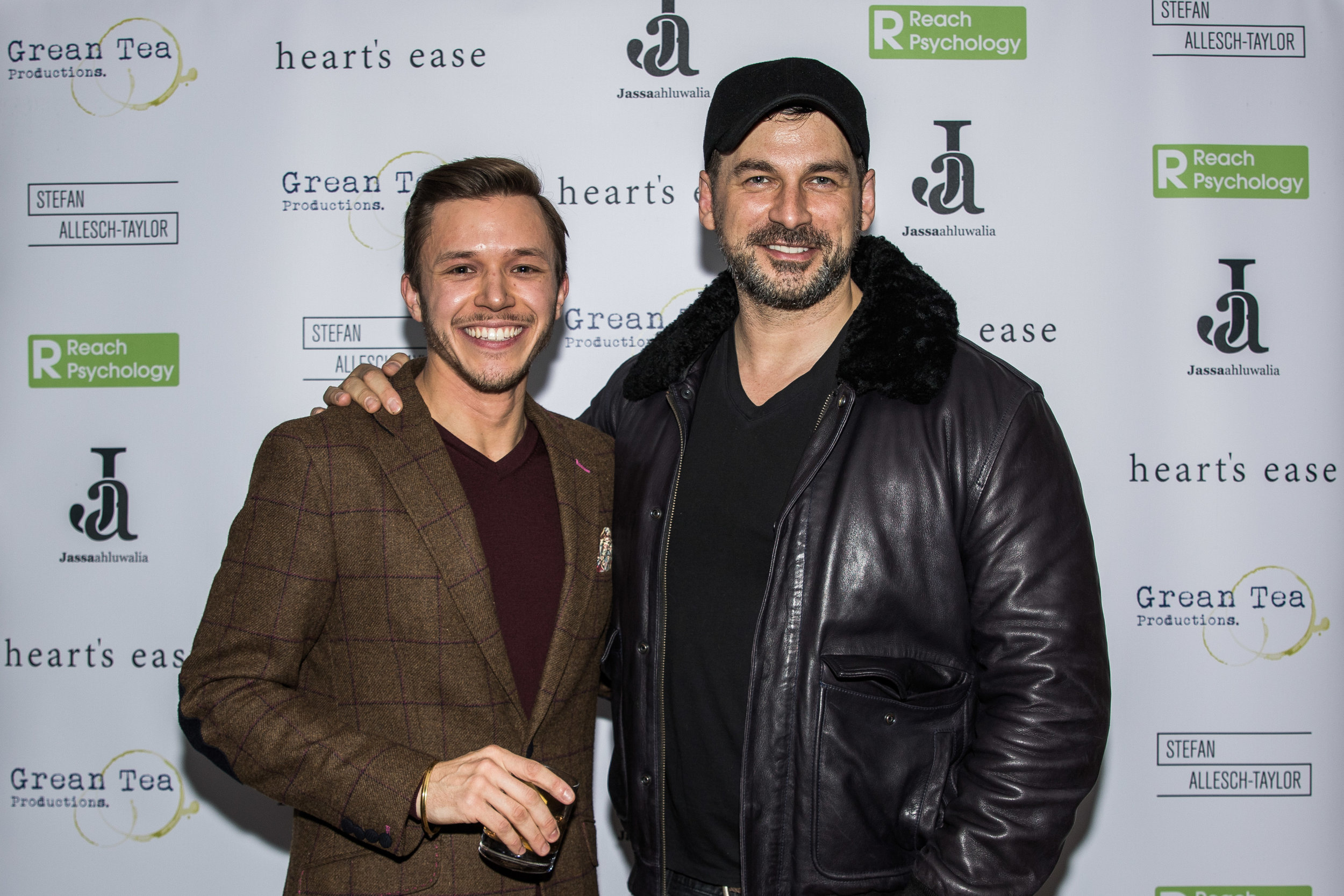 Jassa Ahluwalia and Cristian Solimeno attend the cast and crew screening of Heart's Ease.