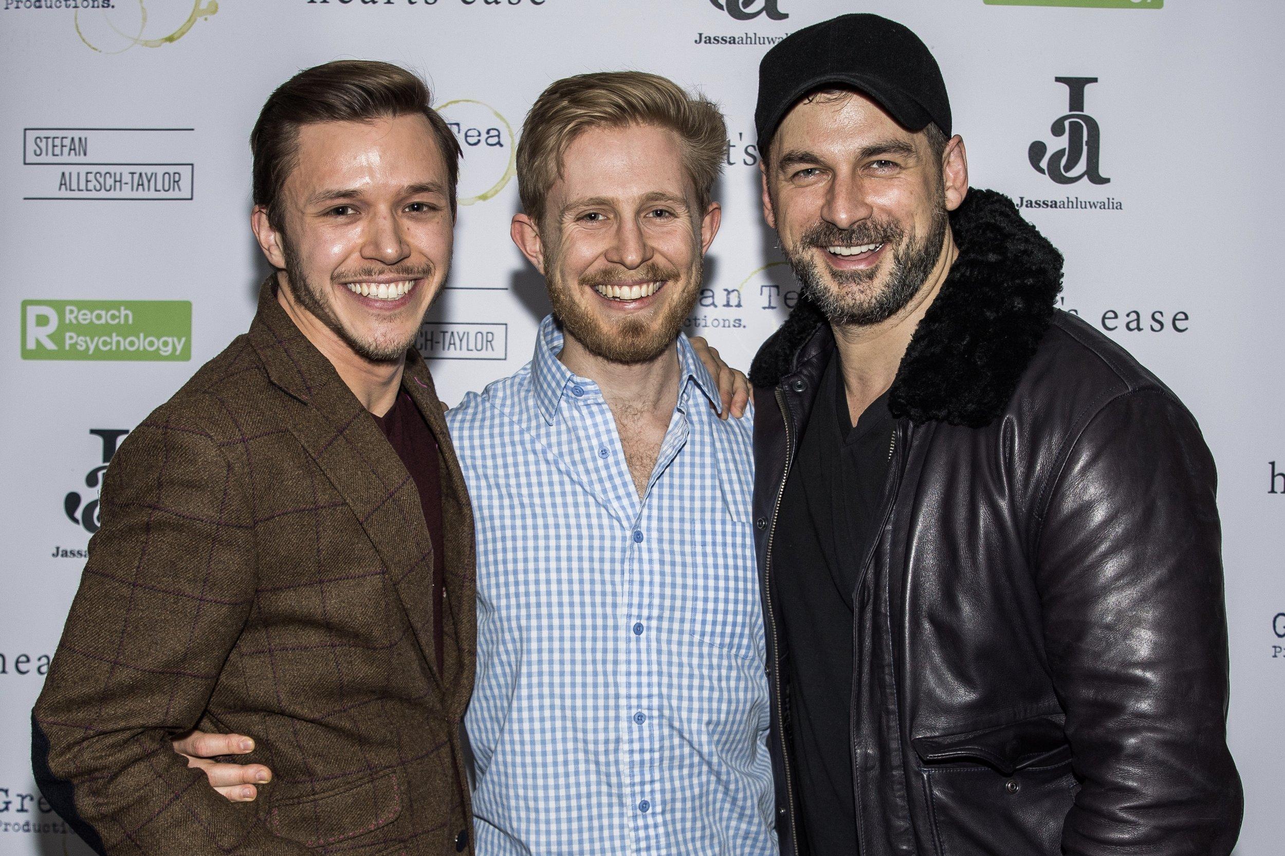Jassa Ahluwalia, Sebastian Solberg and Cristian Solimeno attend the cast and crew screening of Heart's Ease.