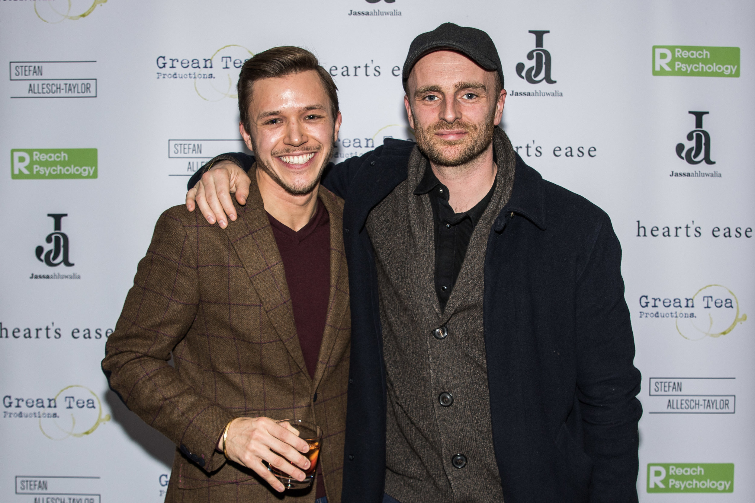 Jassa Ahluwalia and Matthew J Smith attend the cast and crew screening of Heart's Ease.