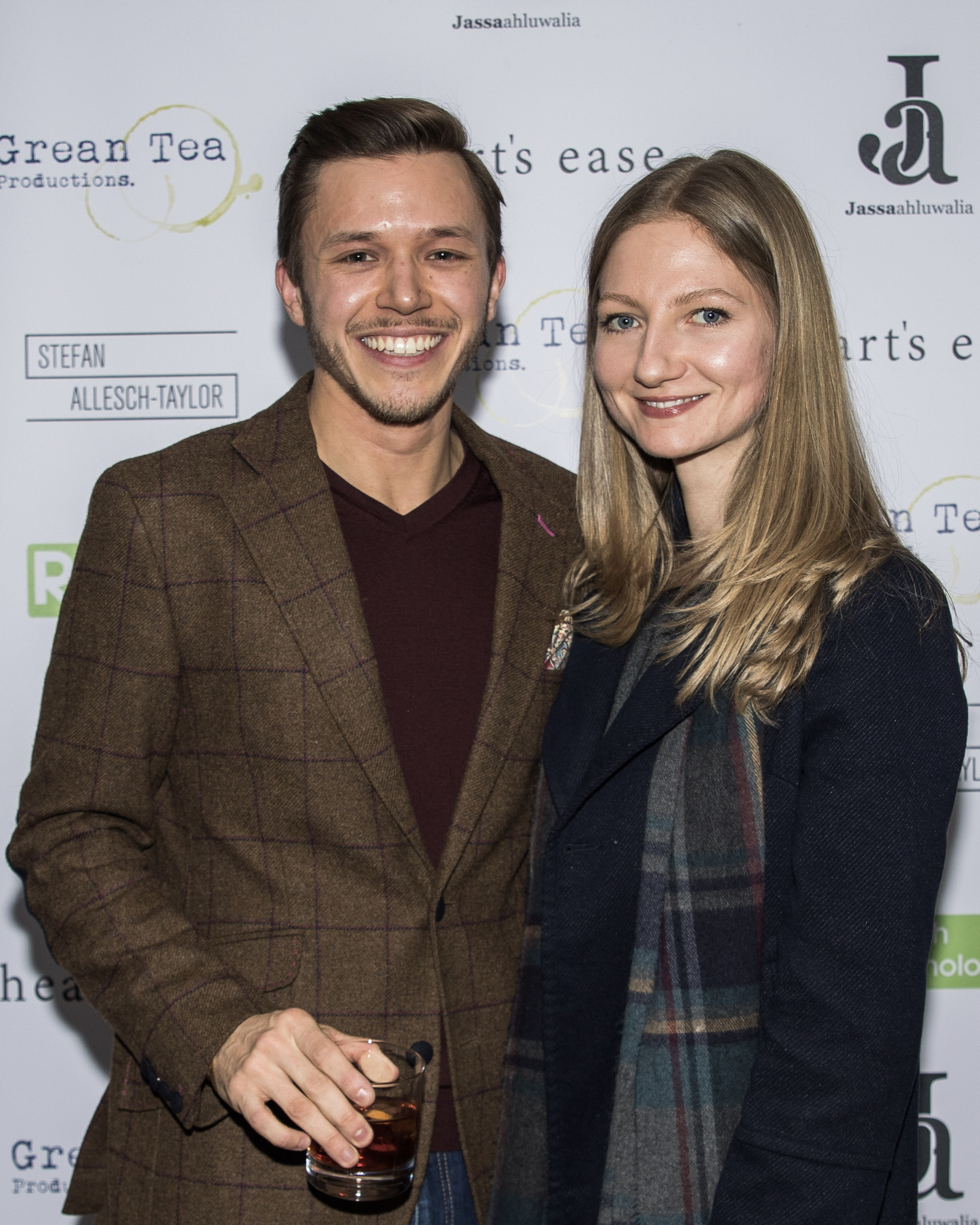 Jassa Ahluwalia and Natalie Healy attend the cast and crew screening of Heart's Ease.