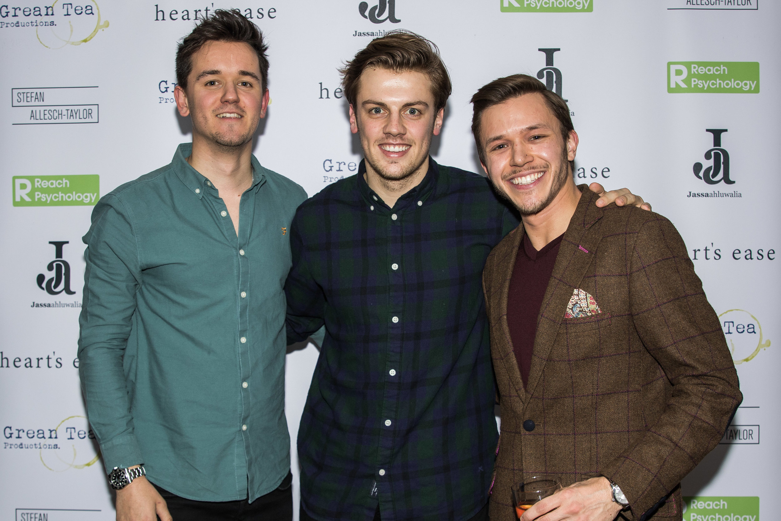 Olly Fawcett, Matthew Marrs and Jassa Ahluwalia attend the cast and crew screening of Heart's Ease.