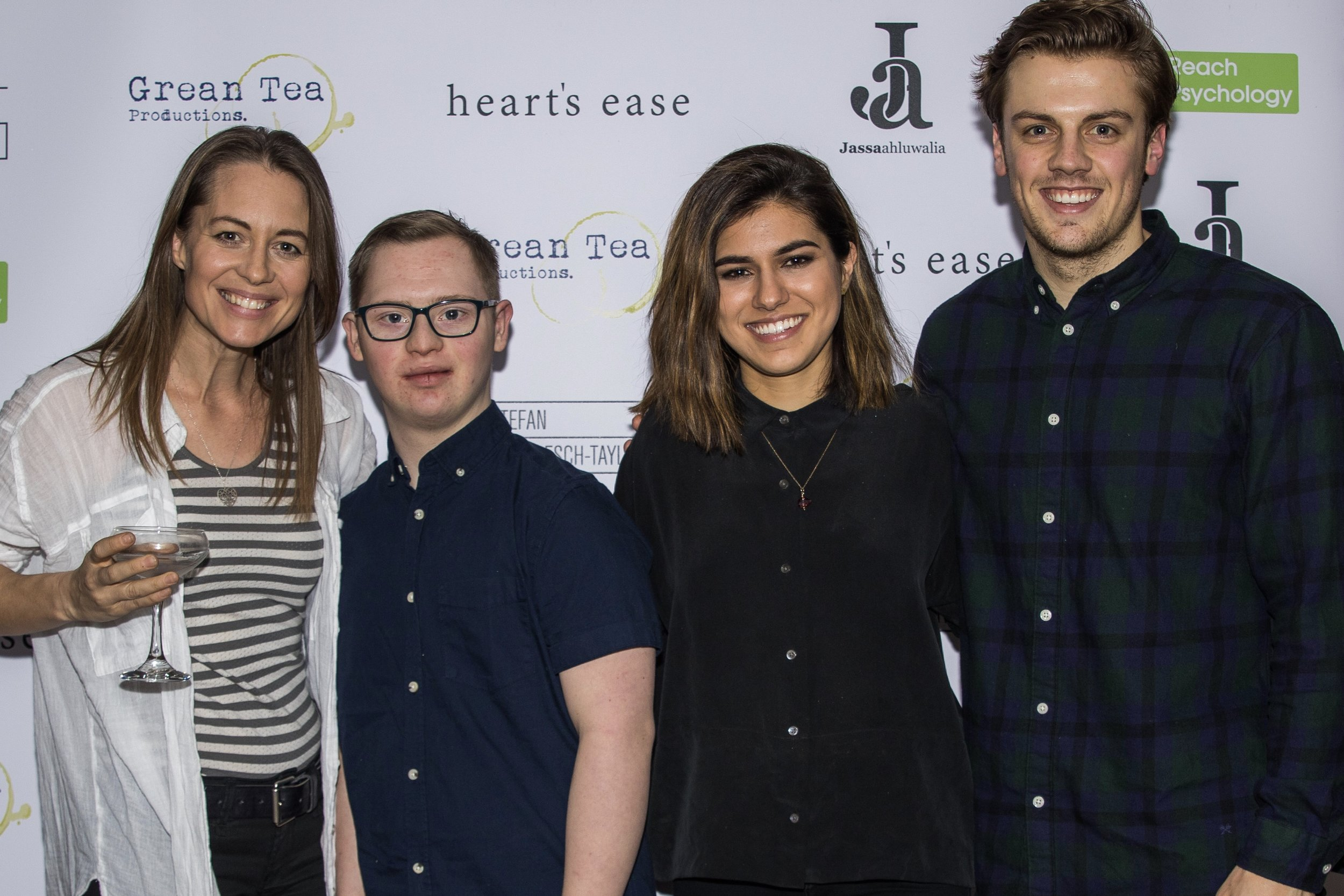 Kezia Burrows, Tom Dann, Ramanique Ahluwalia and Matthew Marrs attend the cast and crew screening of Heart's Ease.