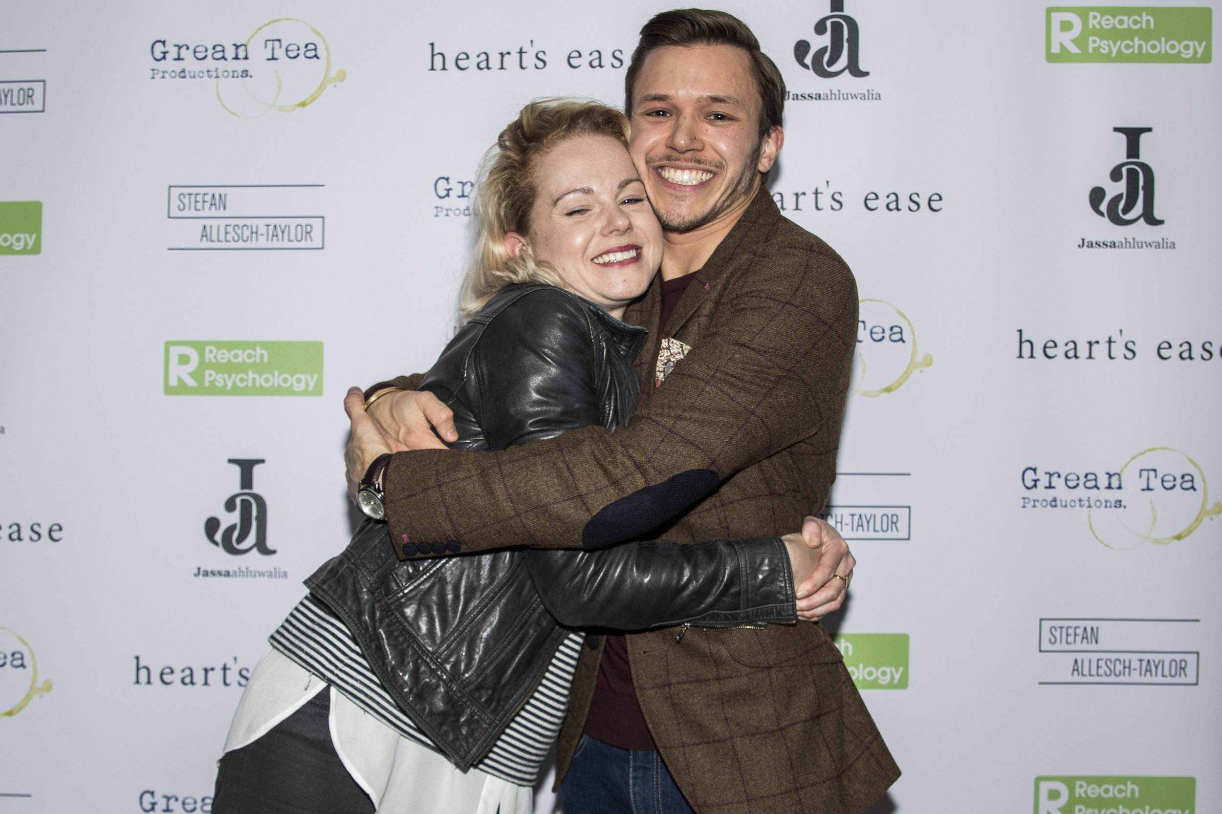 Amy Lennox and Jassa Ahluwalia attend the cast and crew screening of Heart's Ease.