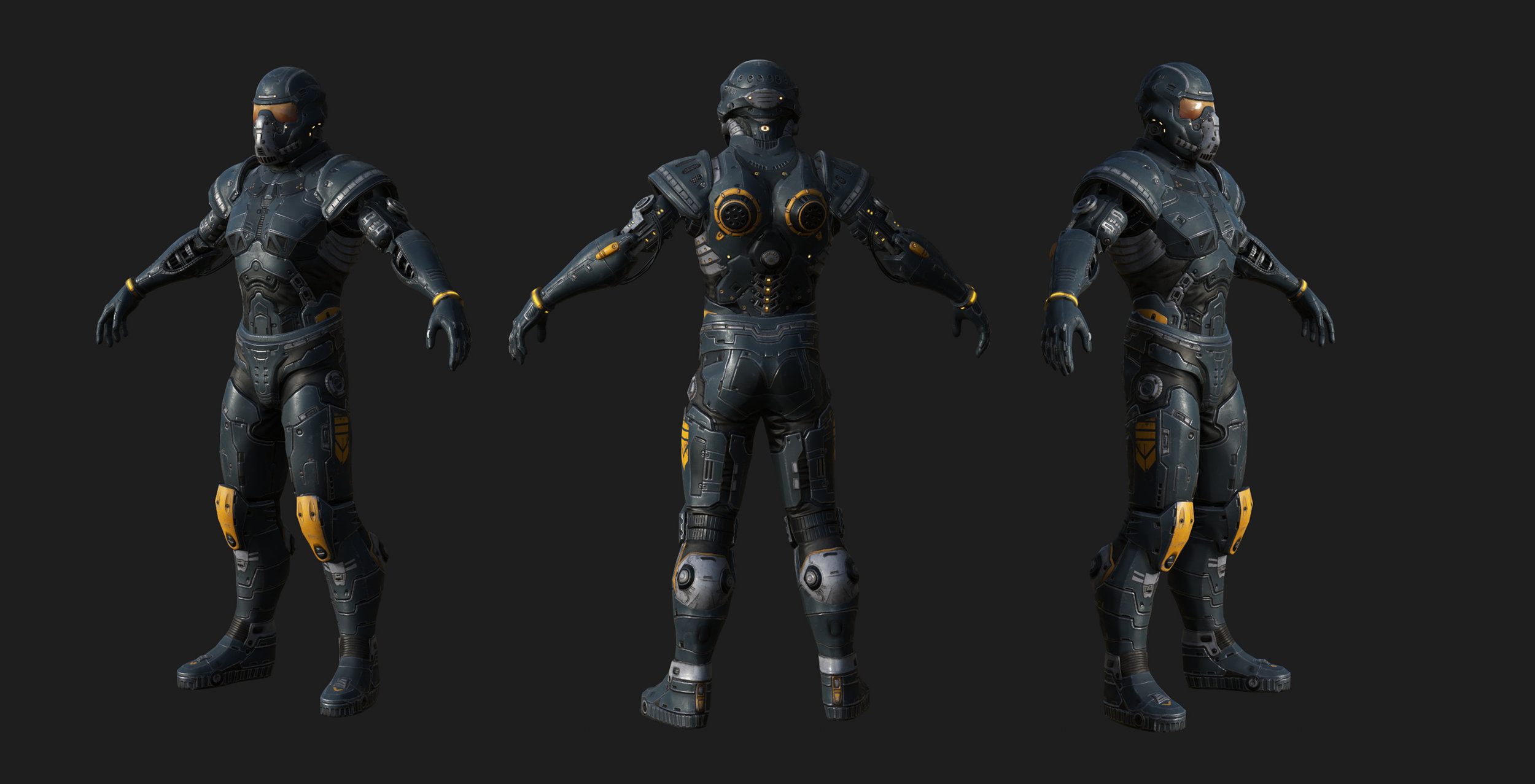 Finished Textures for Armor/Evasion hybrid Gear set - Power Armor