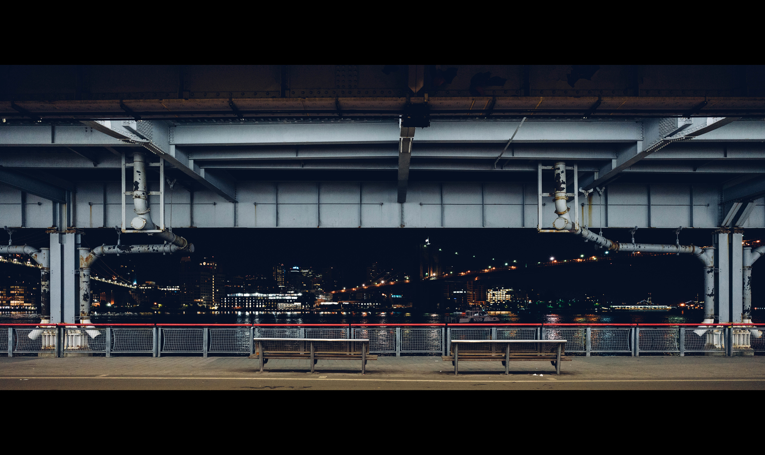 (Sony ILCE-7RM2 + Zeiss Loxia 21mm f/2.8) ISO 3200 - South Street Seaport,I love the minimality and the fact that there is no human element in this one.