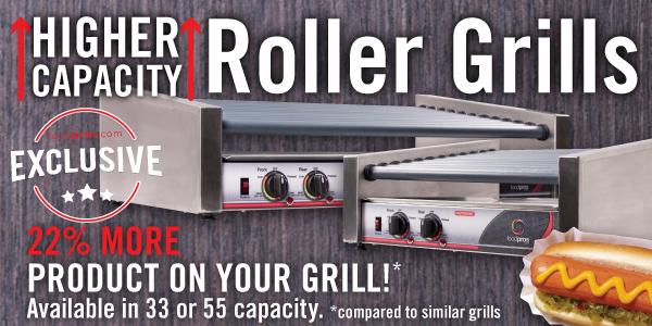 food pros  Slanted Hot Dog Roller Grill at food pros .com