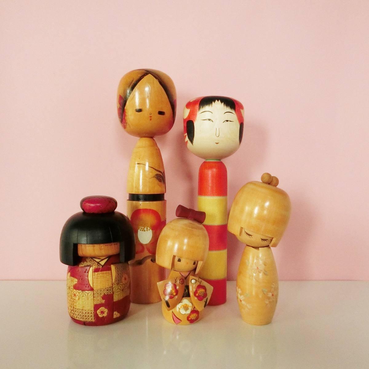 Vintage kokeshi selection - Poupées kokeshi anciennes